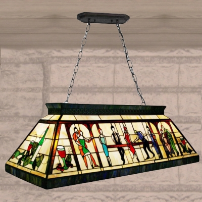 Fancy hand made stained glass tiffany four light pool table pendant fancy hand made stained glass tiffany four light pool table pendant lighting aloadofball Choice Image
