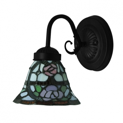 Downward Lighting Stained Glass Tiffany One-light Wall Sconce