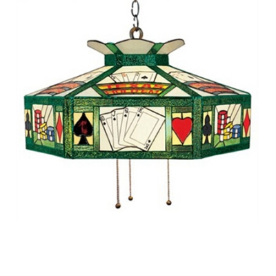 Pool Table Used Pendant Lighting Stained Glass One Light In Tiffany
