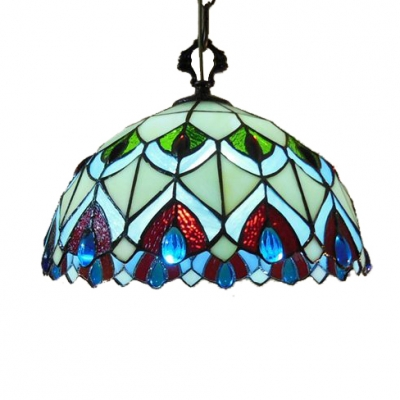 12 Inch Stained Glass Tiffany Two-light Dining Room Hanging Pendant