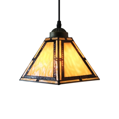 Cone Shade Tiffany Pendant Light in Stained Glass 7