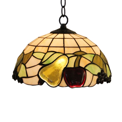 12 18 Inch Stained Gl Country Style One Light Tiffany Hanging Pendant Lighting