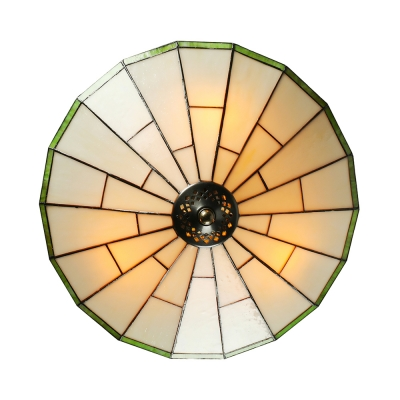Green mission pattern 16 inch flush mount ceiling light in tiffany green mission pattern 16 inch flush mount ceiling light in tiffany stained glass style aloadofball Choice Image