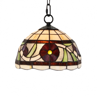 Image of 10 Inch Wide Dining Room Tiffany Hanging Pendant Light in Country Style