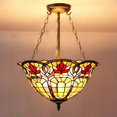 3-light Fancy Stained Glass Baroque Design 5 Inch ...