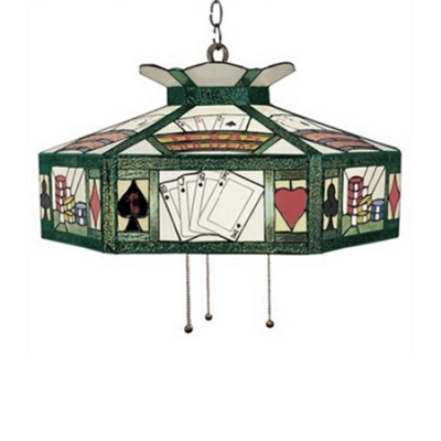 Pool Table Used Pendant Lighting Stained Gl One Light In Tiffany Style