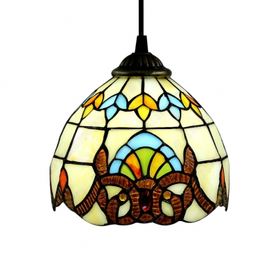 Classic Baroque Style Stained Glass Tiffany 3-light Pendant for Dining Room