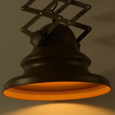 1 Light Bowl Lamp Scissor Accordion Industrial LED Pendant