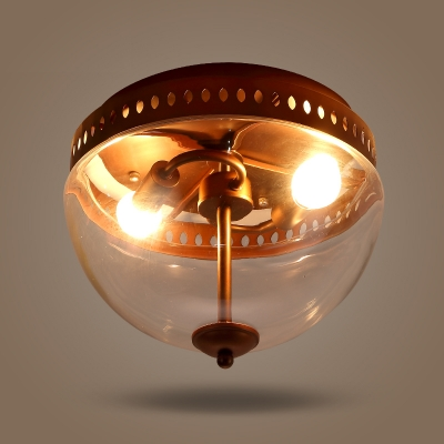 2 light bronze 12 inches wide glass dome industrial small led close 2 light bronze 12 inches wide glass dome industrial small led close to ceiling light aloadofball Images