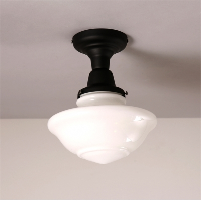8 66 wide schoolhouse led ceiling light in black beautifulhalo com