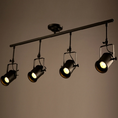 Four lights spotlight led ceiling fixture with cylinder shade mozeypictures