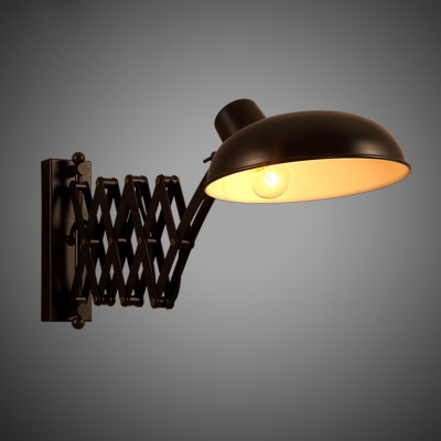 Scissor Arm 1 Light Adjustable Wall Sconce In Bronze - Beautifulhalo.com