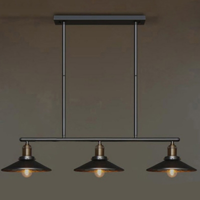 Linear Industrial Style Led Chandelier With 3 Light