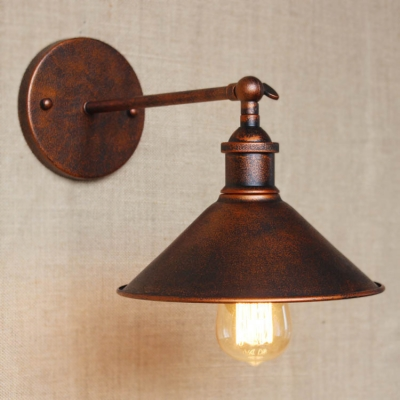 Fashion style wall sconces warehouse barn industrial lighting 8 h antique copper 1 light indoor led wall lamp aloadofball Image collections