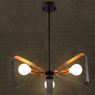 Industrial Style LED Chandelier in English Bronze and Antique Gold