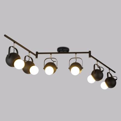 64 Inhces Wide 6 Light Swing Arm Spotlight LED Close to Ceiling Light