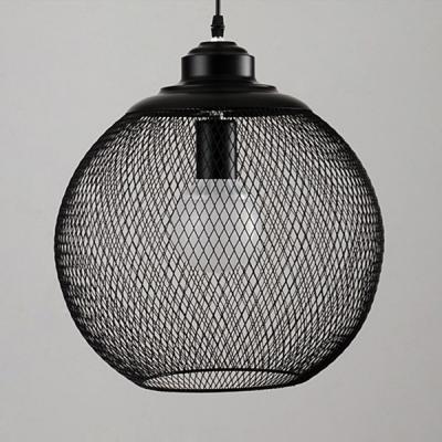 Industrial Globe Mesh 1 Light LED Mini Pendant Lighting ...