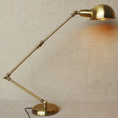 Brass1 Light Adjustable LED Table Lamp - Fashion Style Desk Lamps, Brass, Table Lamps Industrial Lighting