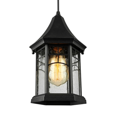 Nautical LED Mini-Pendant Light with Clear Glass in Aged Pewter Finish