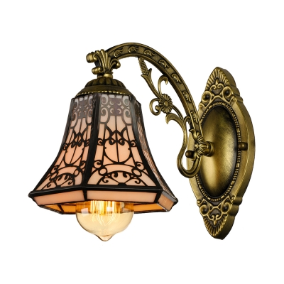 6 Inches Width Tiffany One Light Wall Sconce - Beautifulhalo.com