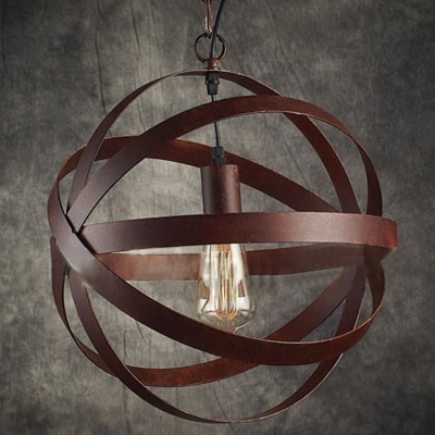 14'' Width Weathered Copper 1 Light Globe LED Ceiling Lamp