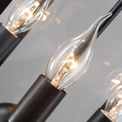 Lantern Style 3 Light LED Chandelier in Black Finish