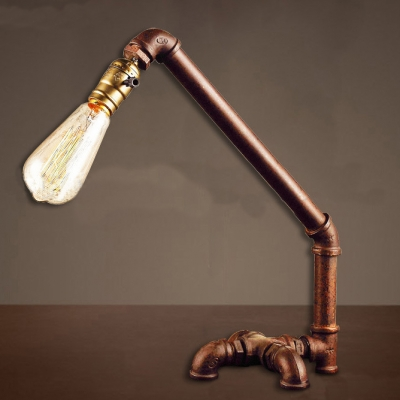 Industrial Evolution LED Table Lamp in Antique Copper Finish
