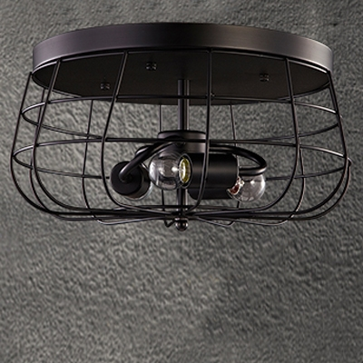 Satin black neo industrial 3 light led flush mount ceiling fixture satin black neo industrial 3 light led flush mount ceiling fixture aloadofball Image collections