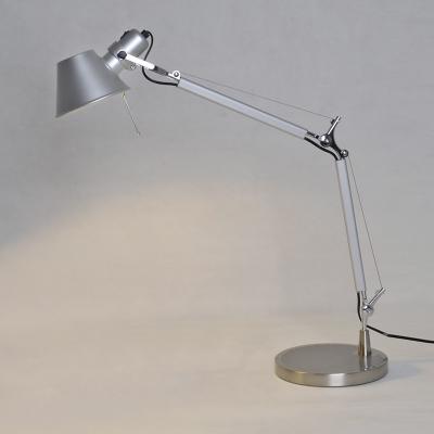 Silver Color Office LED Desk Lamp Polished Aluminum Lights
