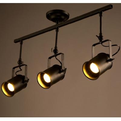 Three light black iron spotlight led close to ceiling light three light black iron spotlight led close to ceiling light aloadofball Images