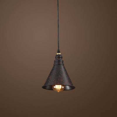 Vintage Steam Punk Industry LED Pendant Light in Rust Finish