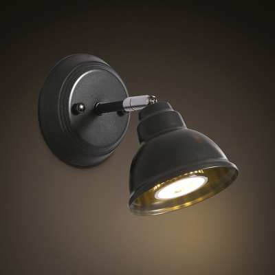 Black Finished 1 Light Spotlight Wall Sconce - Beautifulhalo.com