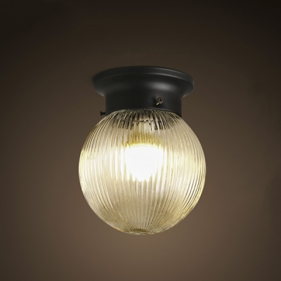 Traditional Clic 1 Light Down Lighting Led Flushmount Ceiling Fixture