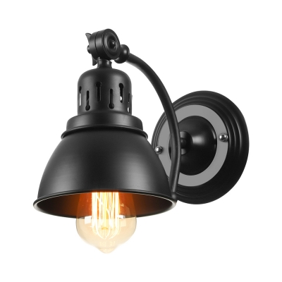 Single Black 1 Light LED Wall Sconce