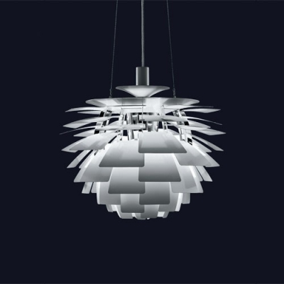 designer lighting. 33u0027u0027 wide designer lighting ph artichoke pendant in white e