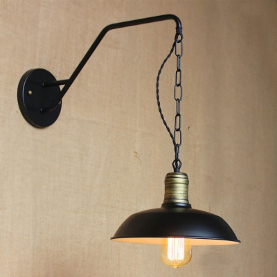 Baycheer / 10'' Wide Small Hanging Barn LED Wall Sconce in Pewter Finish