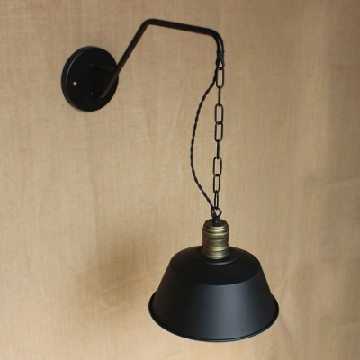 8'' Wide Warehouse Shade LED Mini Barn Wall Light in Pewter Finish
