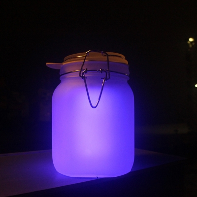 cute four inches wide solar powered warm light led outdoor portable