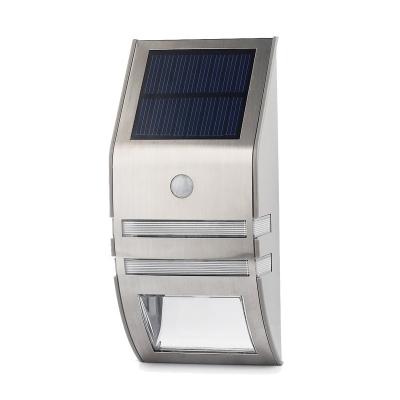 Single LED Stainless Steel Solar Powered Motion Sensor Outdoor Step Light