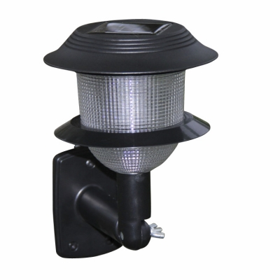 Mini Solar Power Plastic LED Outdoor Wall Lamp with Prismatic Motif