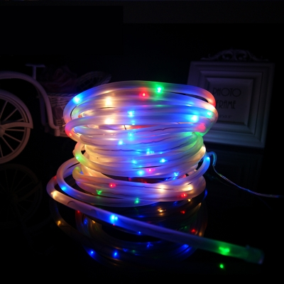 Multi Color 100 LEDs 40ft Solar Power Decorative Garden Landscape LED Rope Lighting