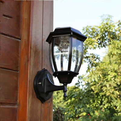 Seductive Black 11 High Cheap Small Outdoor Solar LED Wall Light - Beautifulhalo.com