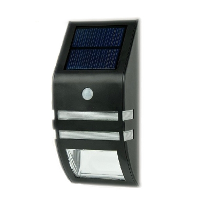 Stainless Steel Single LED Solar Power Outdoor Security Step Light with Motion Sensor