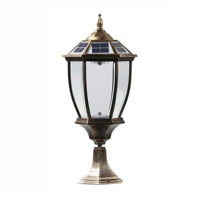 Vintage style bronze 21 h solar powered led patio garden lantern vintage style bronze 21 h solar powered led patio garden lantern post lighting aloadofball Image collections
