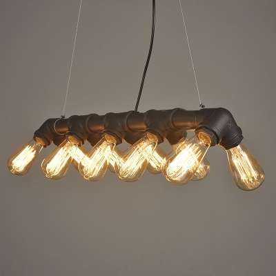 28 Inches Wide Industrial Style Pipe LED Island Light