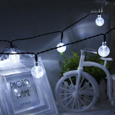 Charming Cool White 30 Pics Crystal Ball Solar String Light For Garden,  Patio, Yard ...
