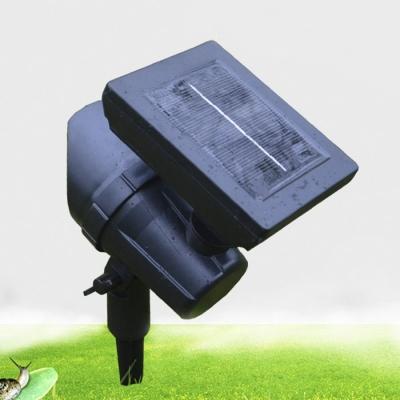Set of 2 Black Finish Weatherproof LED Single Head Adjustable Solar Landscape Spotlight