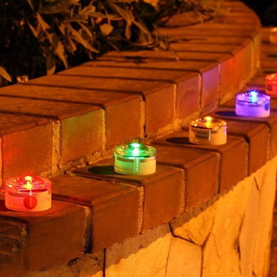 Solar Outdoor Step Lights Fashion style deckstep lights solar lights beautifulhalo single led solar outdoor landscape lighting with more color available workwithnaturefo