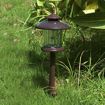 Vintage Style Chocolate Finish 2 Layer Nature Power LED Outdoor Pathway Lighting