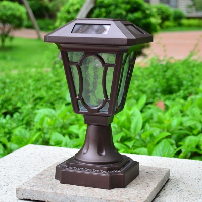 Image of 10 Inches High Aluminum Alloy Small Decorative Solar Powered LED Post Light